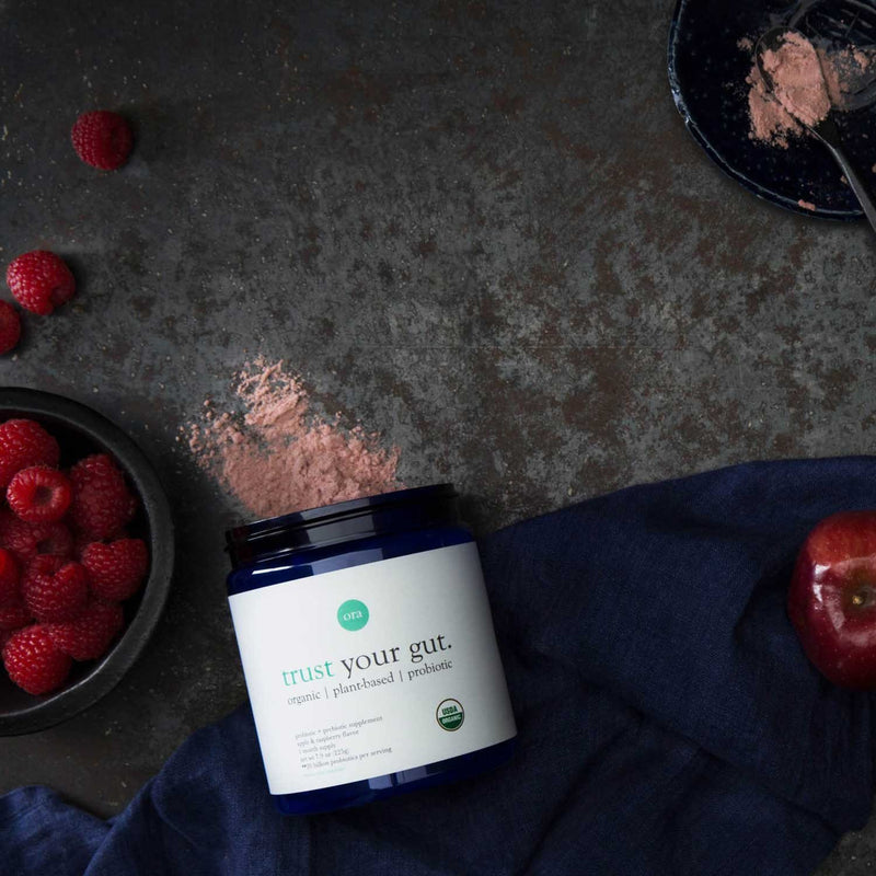 Organic Probiotics with Prebiotics Powder - Apple Raspberry - 225g - Ora Organic | Vegan Concept Hong Kong