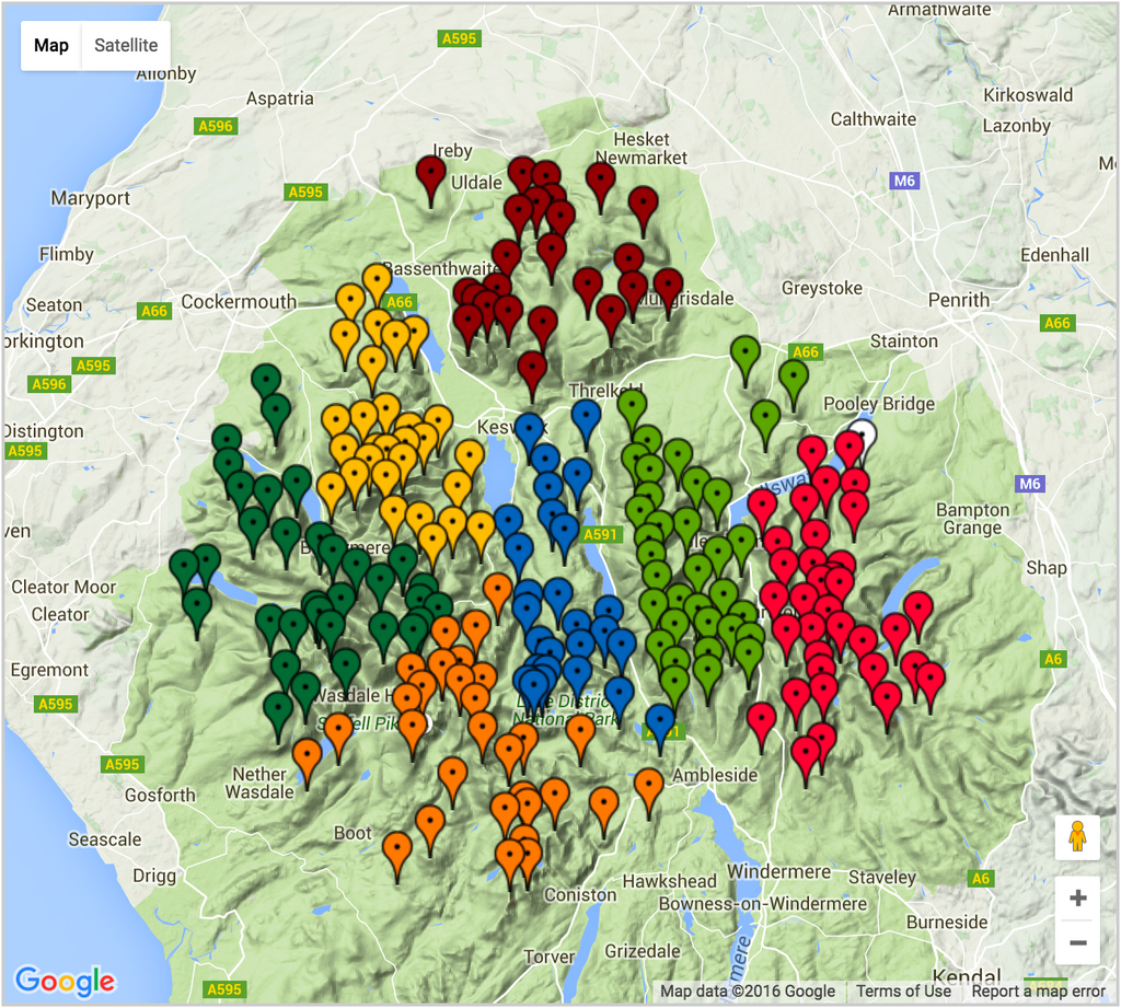 214 Wainwrights Interactive Map