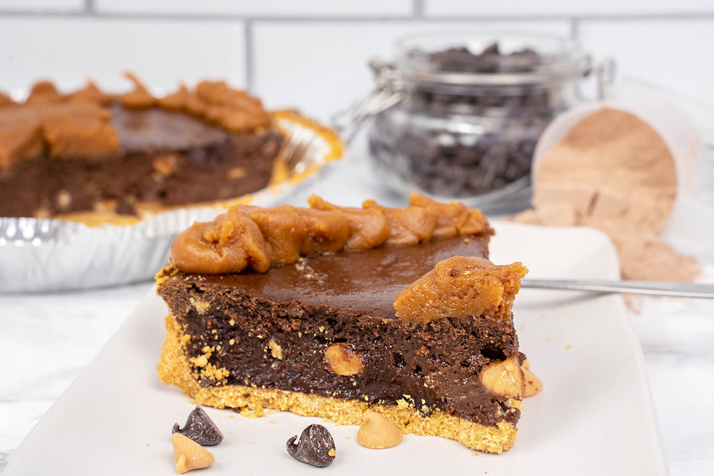 Peanut Butter Brownie Protein Pie