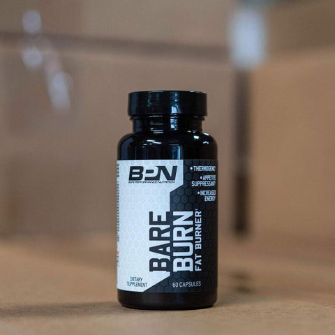 Bottle of Bare Performance Nutrition Bare Burn fat burner.