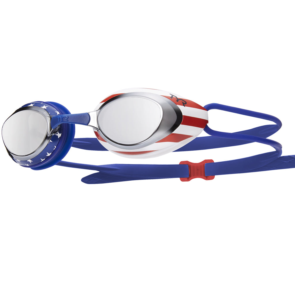 BLACKHAWK RACING MIRRORED USA GOGGLES