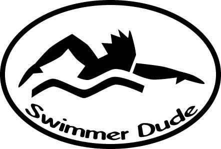 SWIMMER DUDE OVAL MAGNET