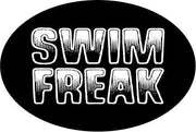 SWIM FREAK OVAL MAGNET (BLACK)