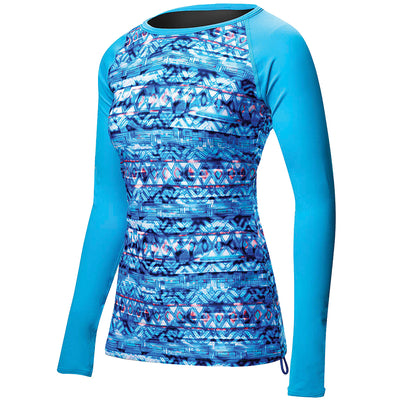 WOMEN'S BELIZE LONG SLEEVE RASHGUARD- SUNDRATA