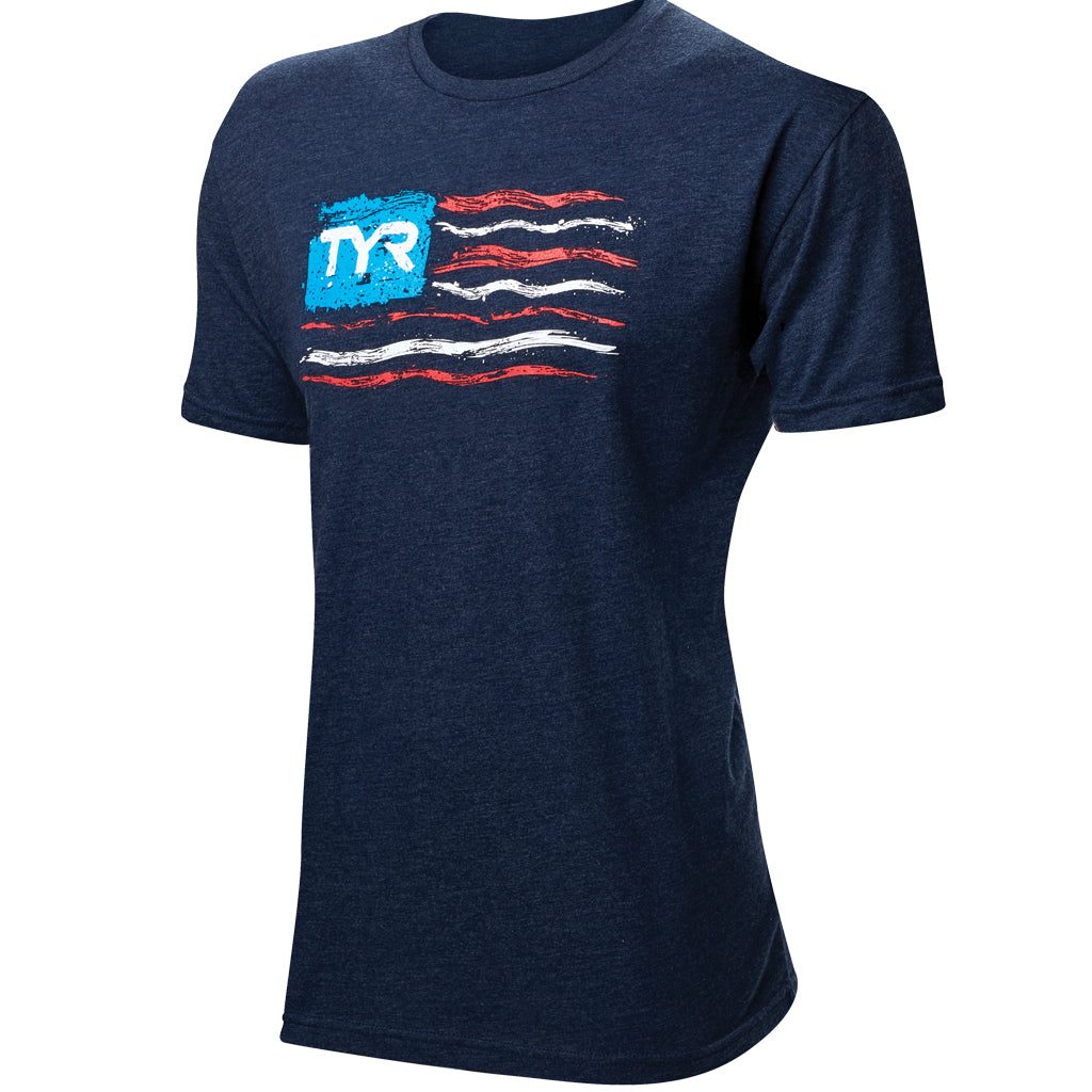 "TYR MEN'S ""LET FREEDOM SWIM"" GRAPHIC TEE"
