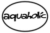 AQUAHOLIC OVAL MAGNET (WHITE WITH BLACK PRINT)