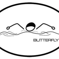 BUTTERFLY OVAL MAGNET (WHITE WITH BLACK PRINT)