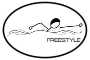 FREESTYLE OVAL MAGNET (WHITE WITH BLACK PRINT)