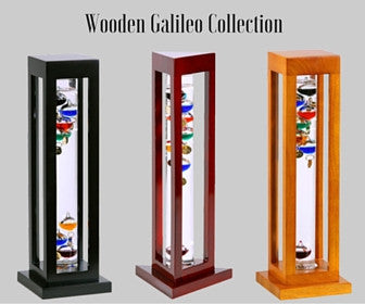 Wood Galileo Thermometers