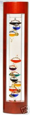 Galileo Thermometer - Cherry Finish