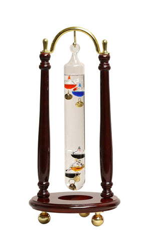 Galileo Thermometer - Hanging  Brass