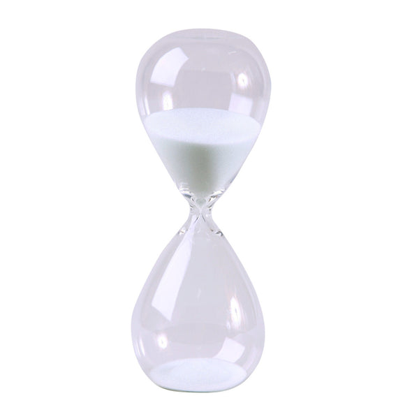 Modern Glass Sand Timer 30 Minute 8 inch