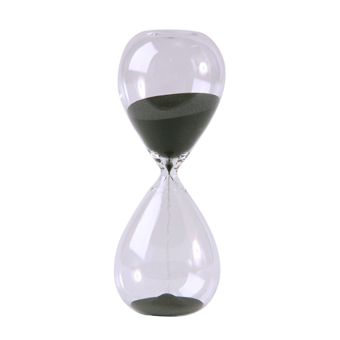 Modern Glass Timer 60 Minute 9 inch