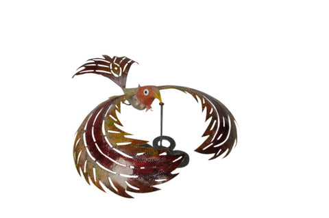 "Bird ""Swing"" Yellow-Red With Stand"