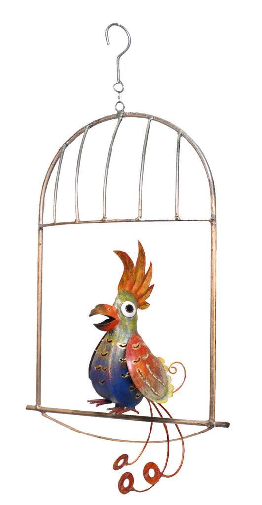 Blue Bird In Cage