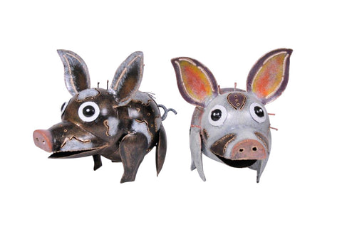 "Art Decor ""Piggy"" Set Of Two"