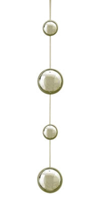 Gazing Stainless Steel Chain With 4 Spheres