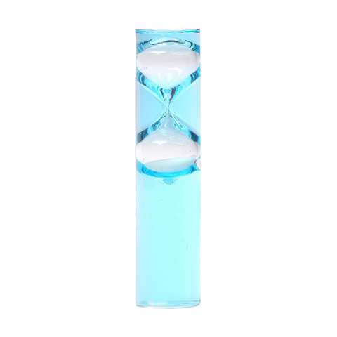 Liquid Timer With White Sand 5 Minute Blue - 8 inch