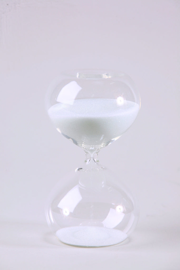 Modern Glass Timer White 5.5""