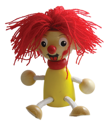Clown Bouncy Buddies - 3.75""