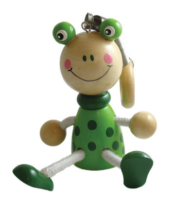 Frog Bouncy Buddies - 3.75""