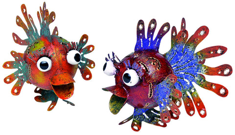 Garden And Home Decor Blow Fish - Set /Six
