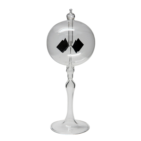 "Radiometer 2.25"" Diameter Clear Sphere Clear Tapered Stem"