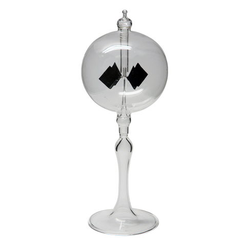 "Radiometer 3"" Diameter Clear Sphere Tapered Stem"