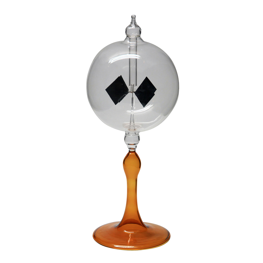 "Radiometer 3"" Diameter Clear Sphere Cognac Tapered Stem"