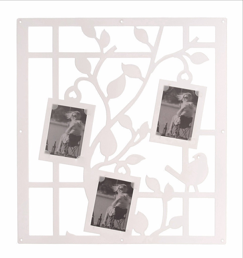 White Birds Photo Screen Panel