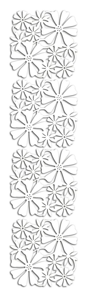 White Floral Cutout Screen Panel