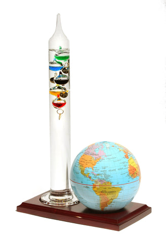 Galileo Thermometer & Earth Globe