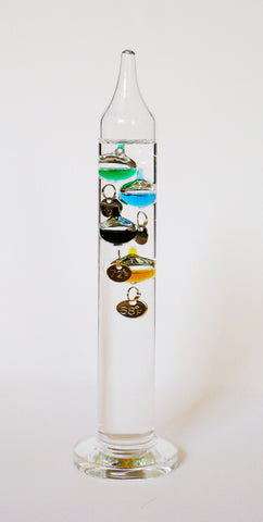 Glass Galileo Thermometer 7""