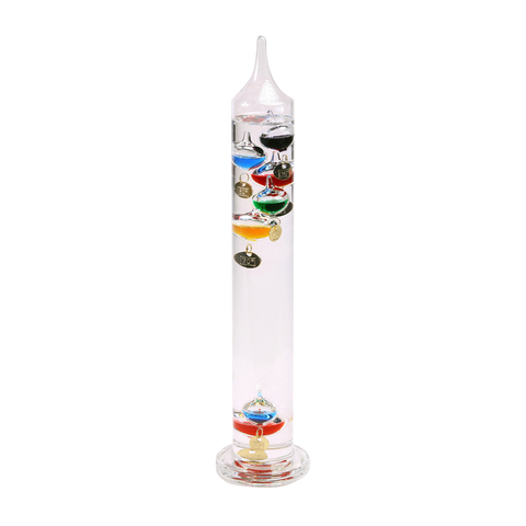 "GALILEO THERMOMETER Great gifts for men Glass 15"" inch"