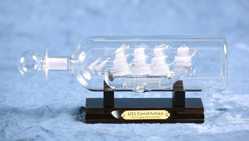 "Ship In Bottle - USS Constitution 2.5"" Dia."