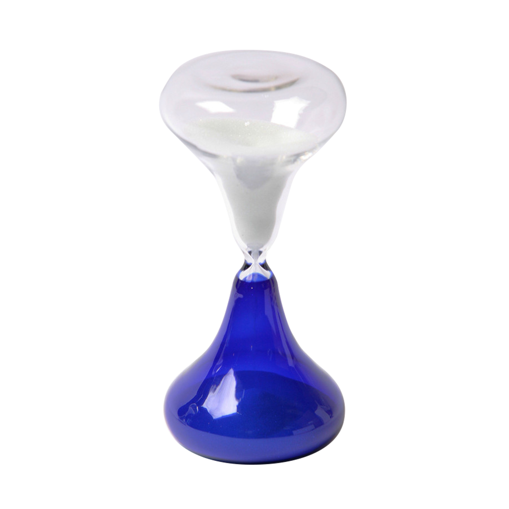 Glass Sand Timer 15 Minute Beaker Blue