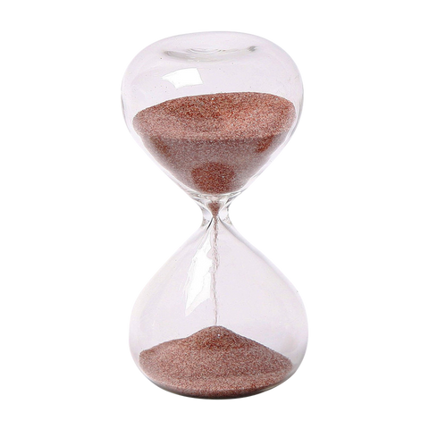 Glass Sand Timer 5 minute 4 inch mini Deep Red