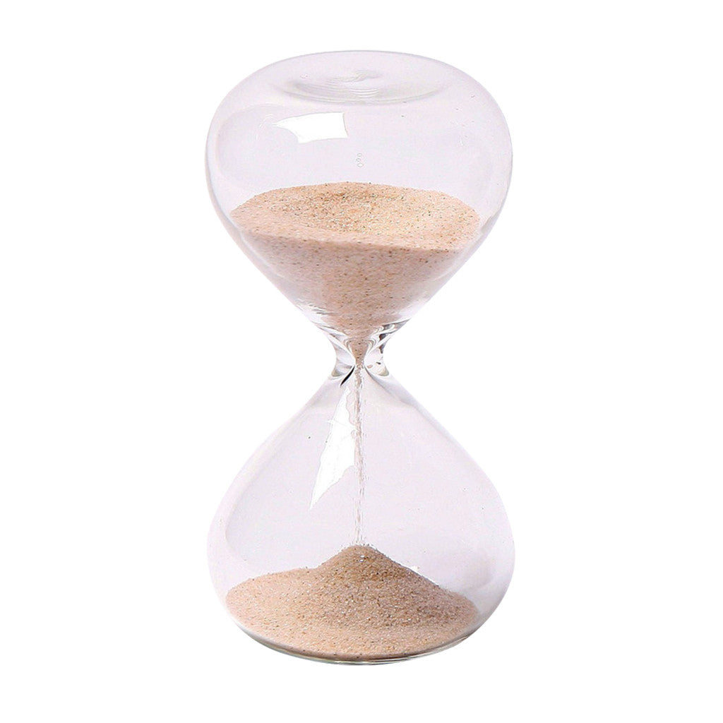 "Glass Sand Timer 5 minute 4"" Mini  Natural"