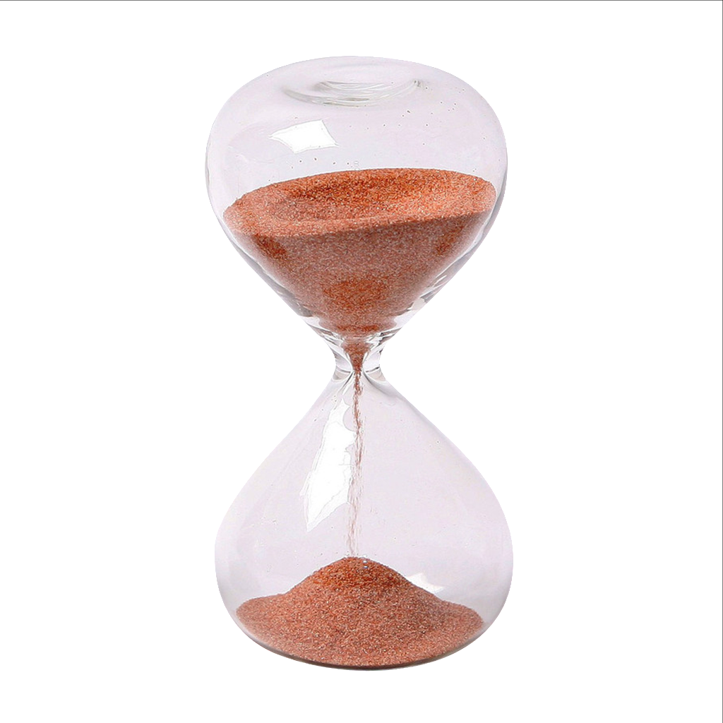"Glass Sand timer 5 minute 4"" Mini Red"