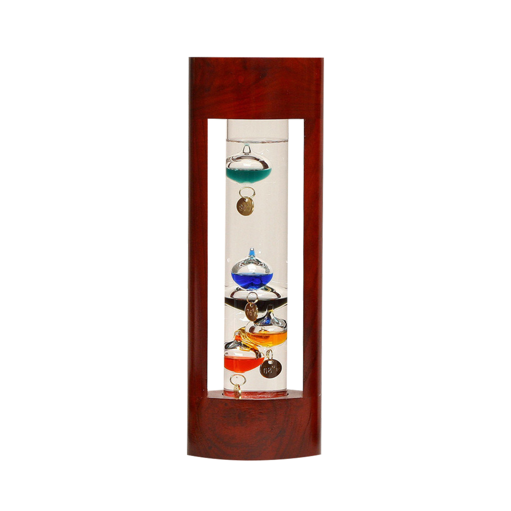 GALILEO THERMOMETER Great gifts for men CHERRY FINISH 12""