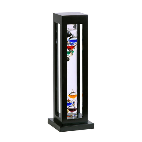 GALILEO THERMOMETER BLACK FINISH / SQUARE GALILEO THERMOMETER 15""