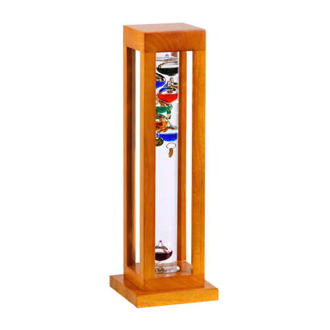 GALILEO THERMOMETER NATURAL FINISH  SQUARE 15""