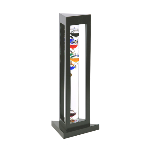 GALILEO THERMOMETER BLACK FINISH / TRIANGLE 15""