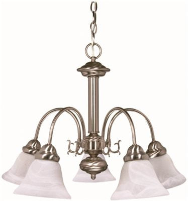 MONUMENT® TRANSITIONAL CHANDELIER, BRUSHED NICKEL, 24 X 18 IN - Score Materials
