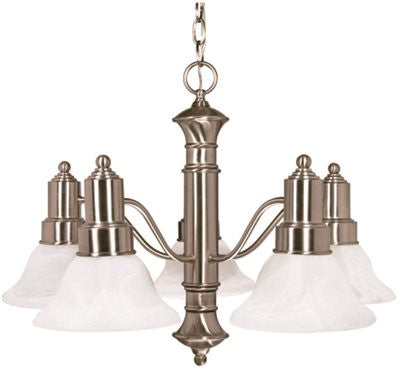MONUMENT® TRANSITIONAL CHANDELIER, BRUSHED NICKEL, 24.5 X 17.5 IN - Score Materials