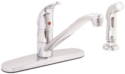 PREMIER® WESTLAKE™ KITCHEN FAUCET WITH SINGLE HANDLE AND SIDE SPRAY, 1.8 GPM, CHROME* - Score Materials - 1