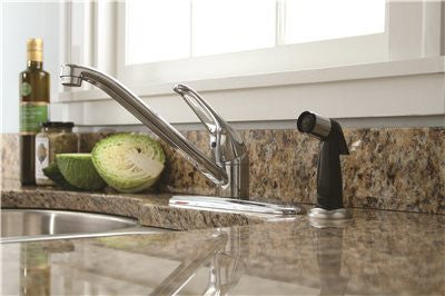 BAYVIEW KITCHEN FAUCET WITH LOOP HANDLE, CHROME FINISH - Score Materials