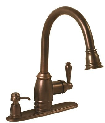 SONOMA PULL DOWN KITCHEN FAUCET OIL RUBBED BRONZE FINISH - Score Materials - 1