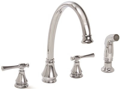 PREMIER® TORINO™ KITCHEN FAUCET WITH TWO HANDLES AND SIDE SPRAY, CHROME, LEAD FREE - Score Materials - 1