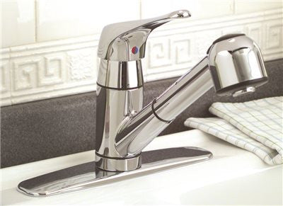 PREMIER® SONOMA™ KITCHEN FAUCET WITH PULL-OUT AND SINGLE HANDLE, 1.8 GPM, CHROME, LEAD FREE - Score Materials - 2